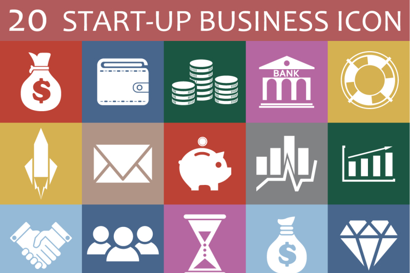 20-startup-business-icon
