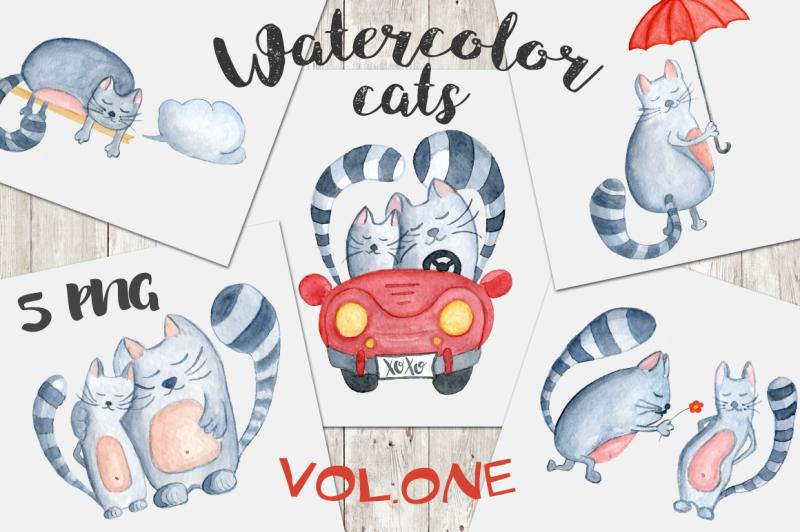 watercolor-cats-clipart-vol-1