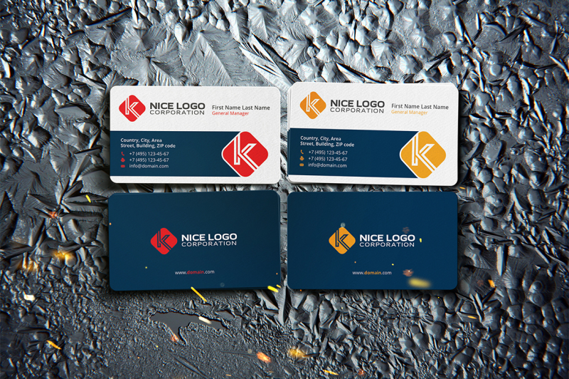business-card-and-letter-k
