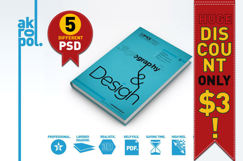 Free BOOK MOCK UPS (PSD Mockups)