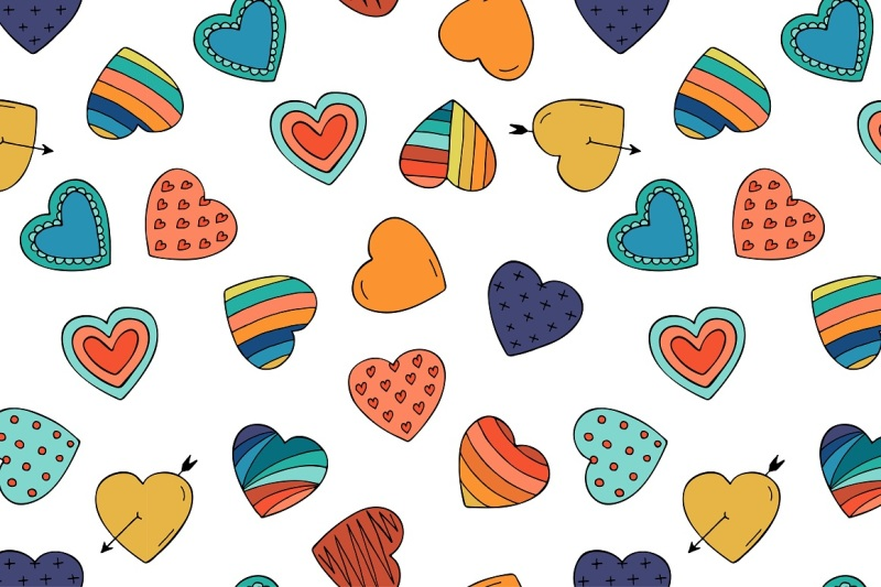 collection-of-color-hearts-pattern