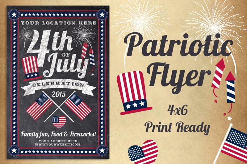 chalk-patriotic-flyer