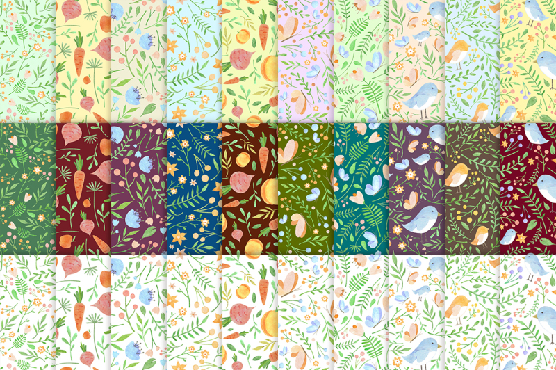 floral-watercolor-patterns