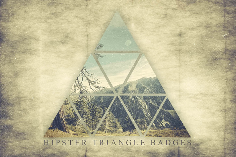 hipster-triangle-badges