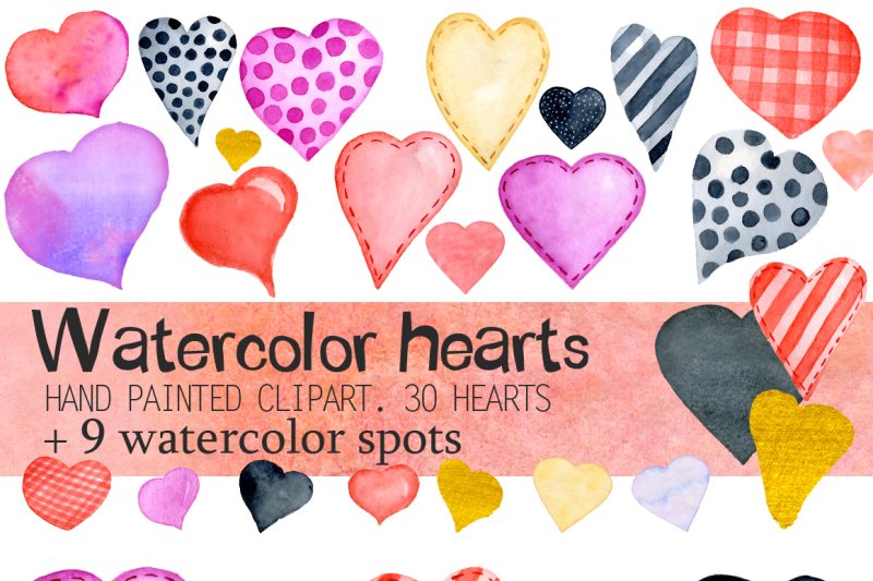 watercolor-valentines-day-cats-huge-love-watercolor-collection