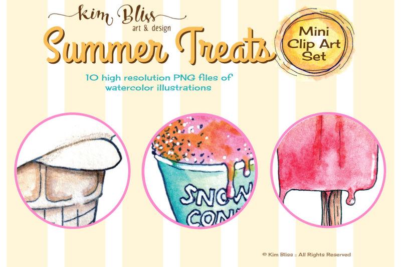 Clip Art Illustrations: SUMMER TREATS By kim BLiSS art ...