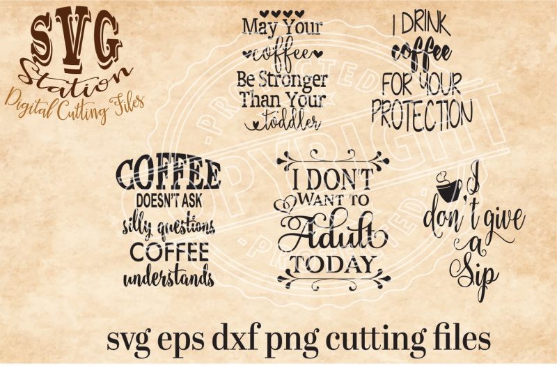 Download Coffee Cup SVG PNG EPS and DXF Cutting File for Silhouette ...