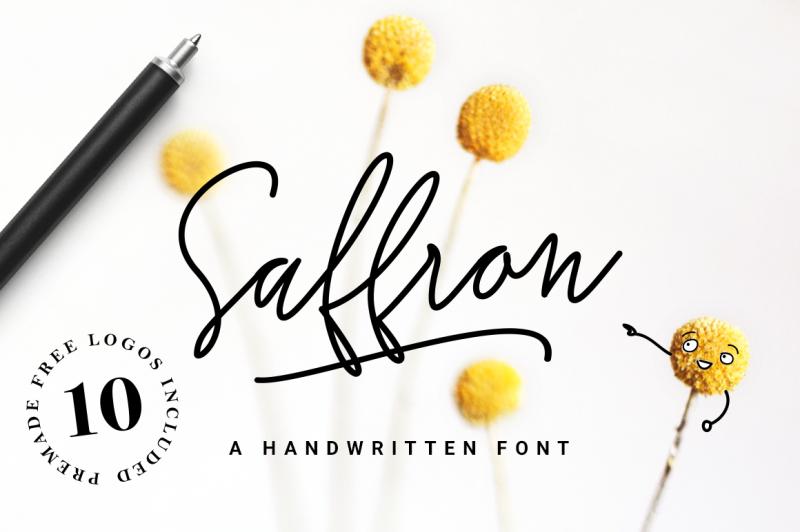 saffron-handwritten-font