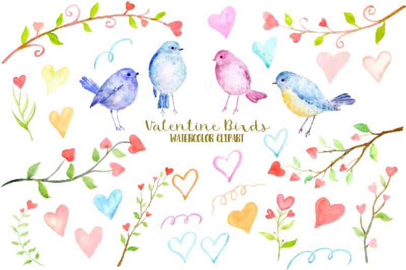 watercolor-clipart-valentine-birds