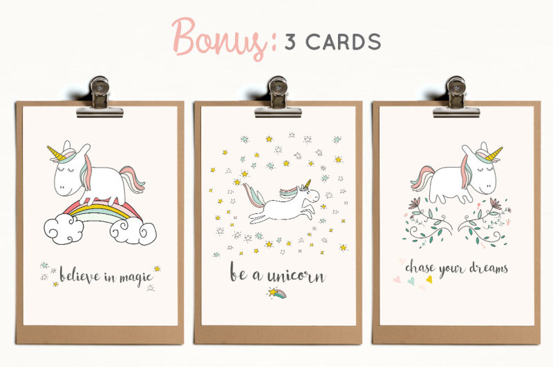 fairytale-unicorns-patterns-illustrations