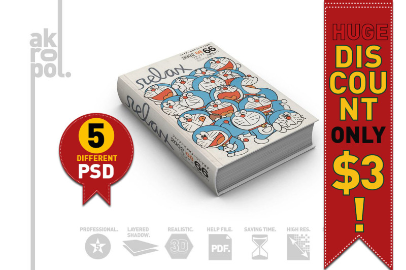 Free BOOK MOCKUP (PSD Mockups)