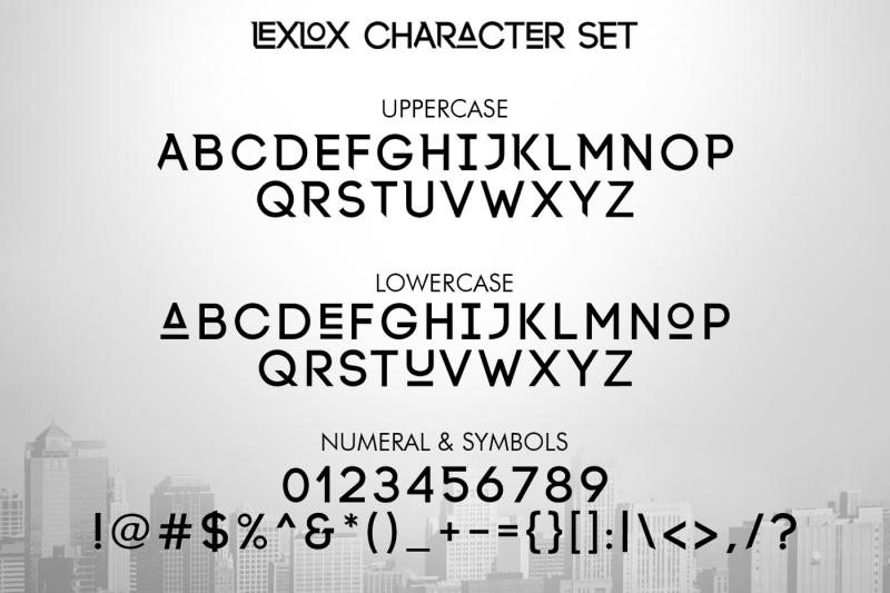 lexlox-typeface
