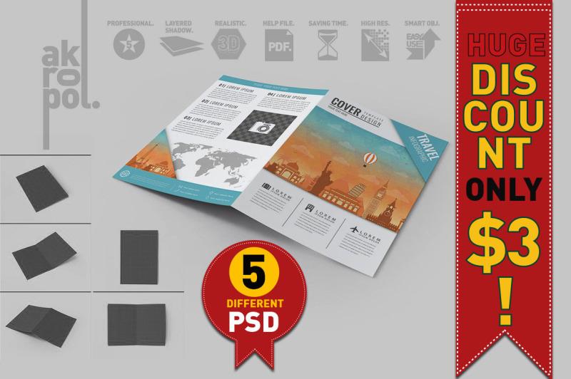 Free Bifold Brochure Mock Up (PSD Mockups)