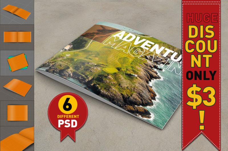 Free Brochure - Magazine Mock Up (PSD Mockups)