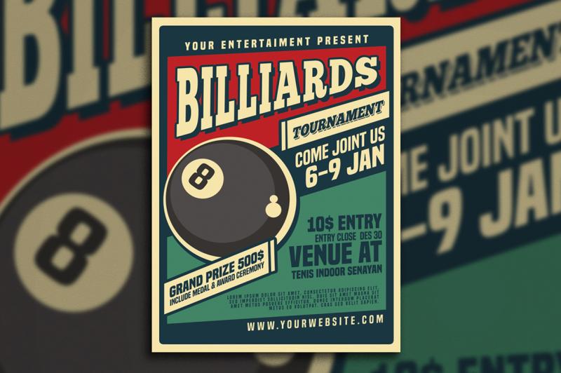 billiard-tournamet-flyer