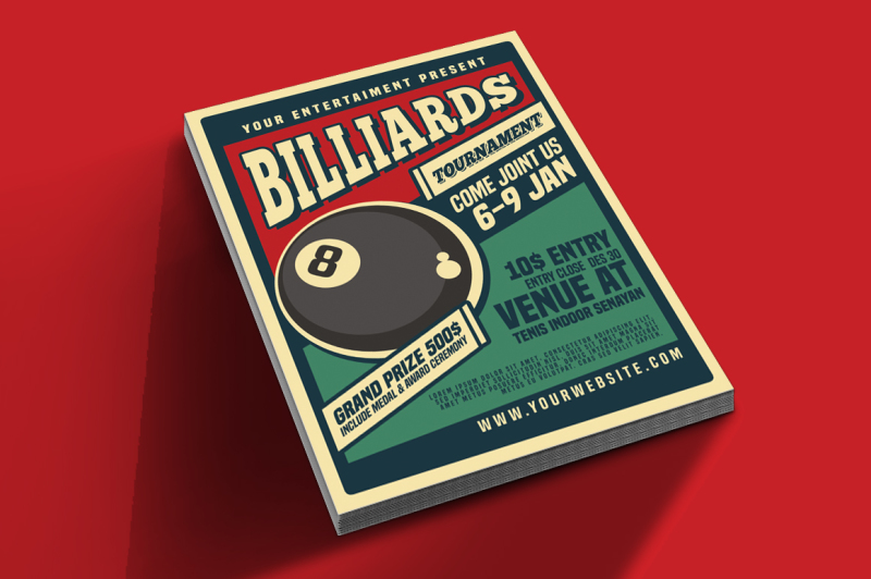 billiard-tournamet-flyer