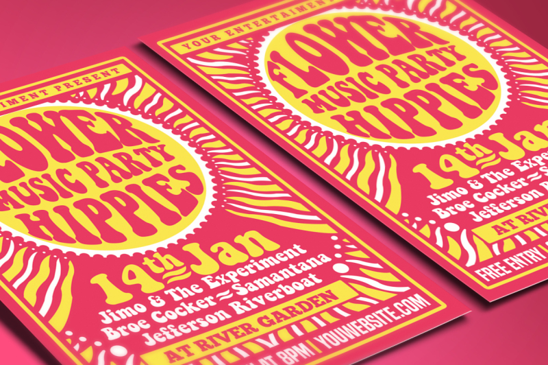 hippies-music-party-flyer-poster