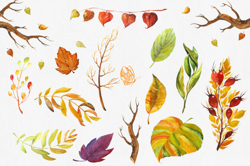 fall-colors-watercolor-collection
