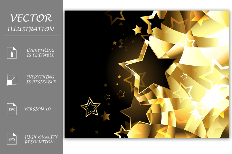 abstract-golden-background-with-stars
