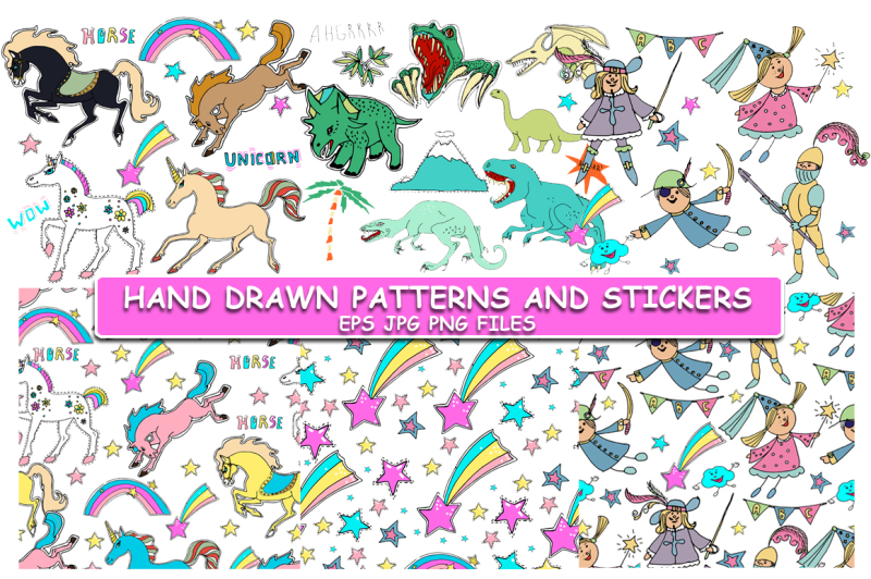 cute-hand-drawn-stickers-and-patterns