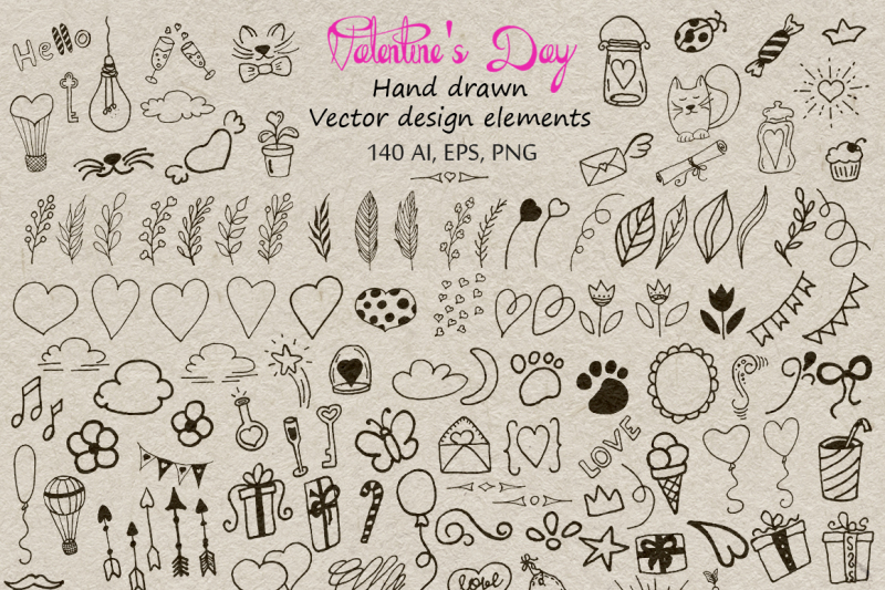valentine-s-day-lettering-and-graphic-big-vector-clipart