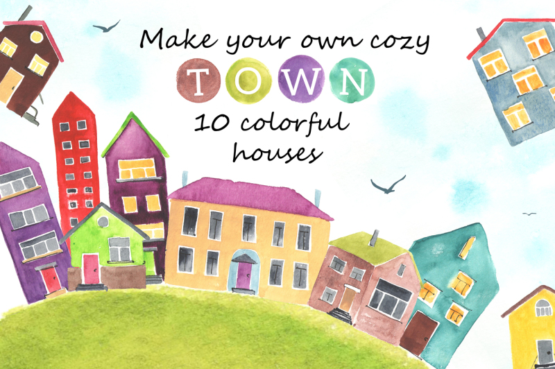 10-watercolor-houses
