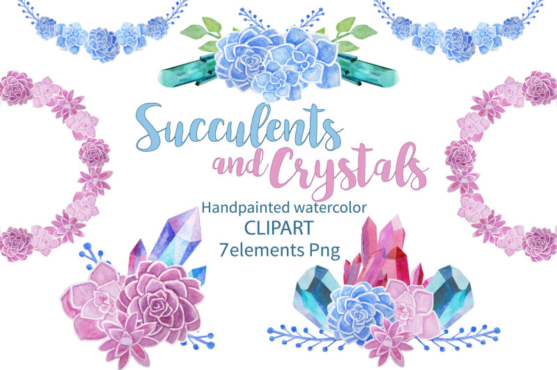 succulents-and-crystals-watercolor