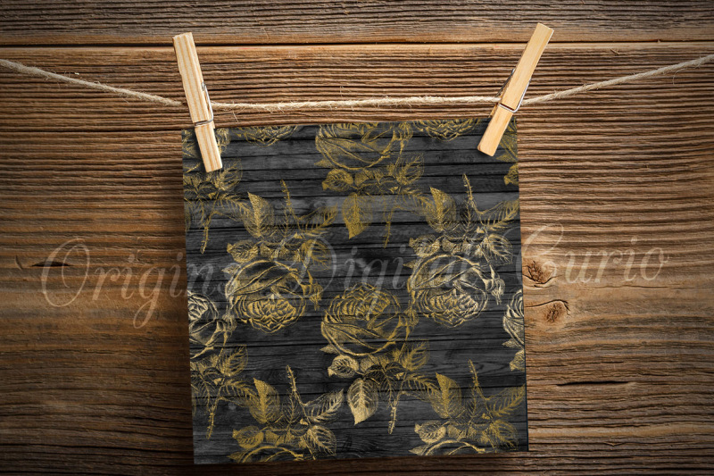 black-and-gold-floral-wood-backgrounds