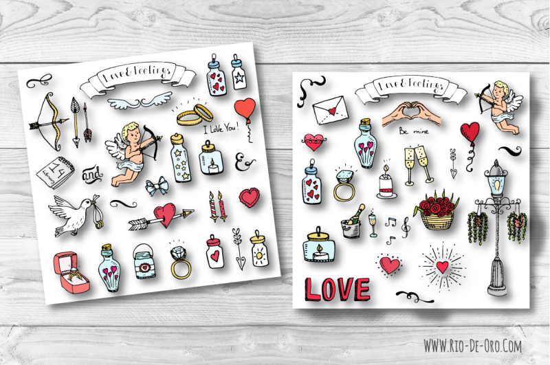 90-hand-drawn-love-elements-and-symbols
