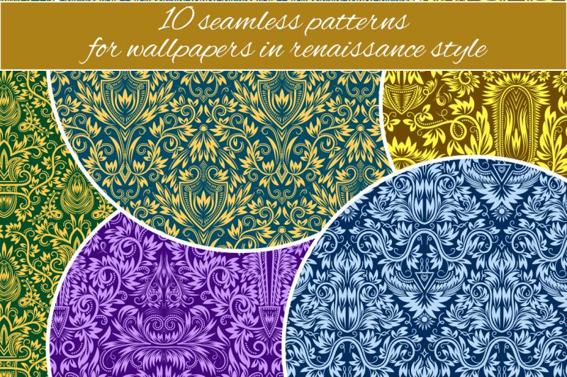 renaissance-seamless-patterns-set