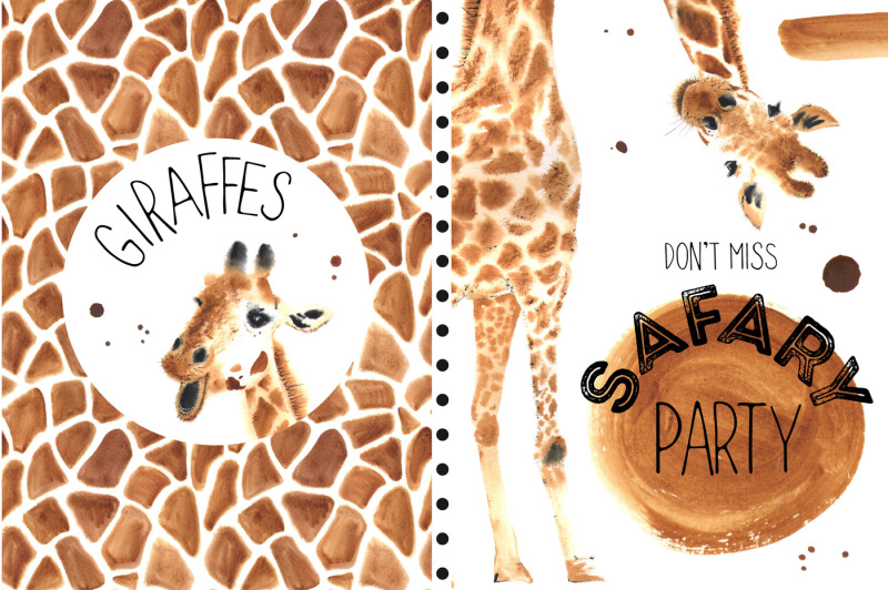 watercolor-giraffes