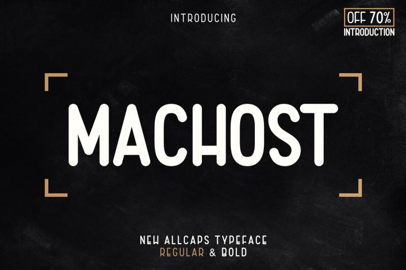 machost-allcaps-typeface