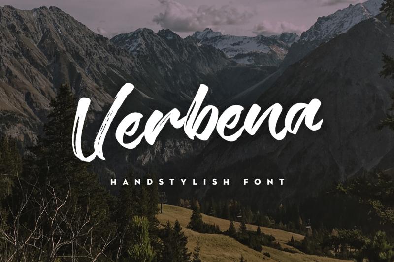verbena-handstylish-font