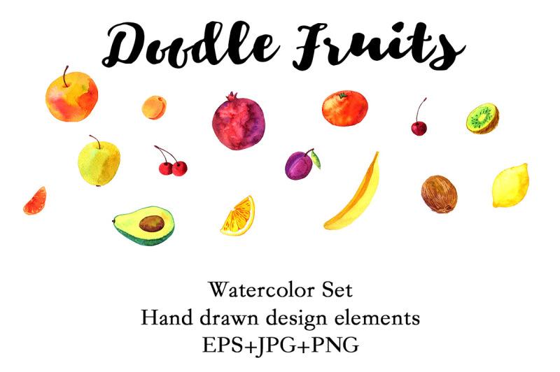 doodle-fruits