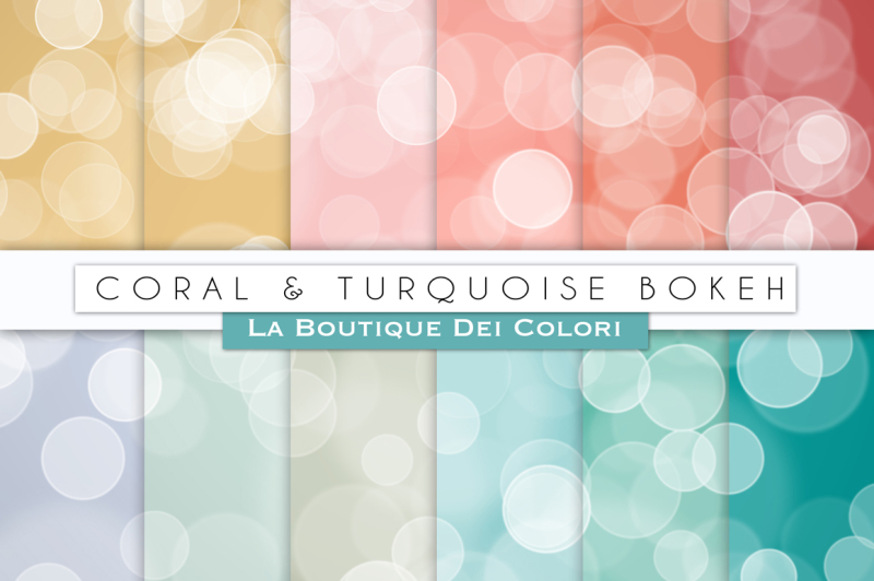 coral-and-turquoise-bokeh-digital-papers