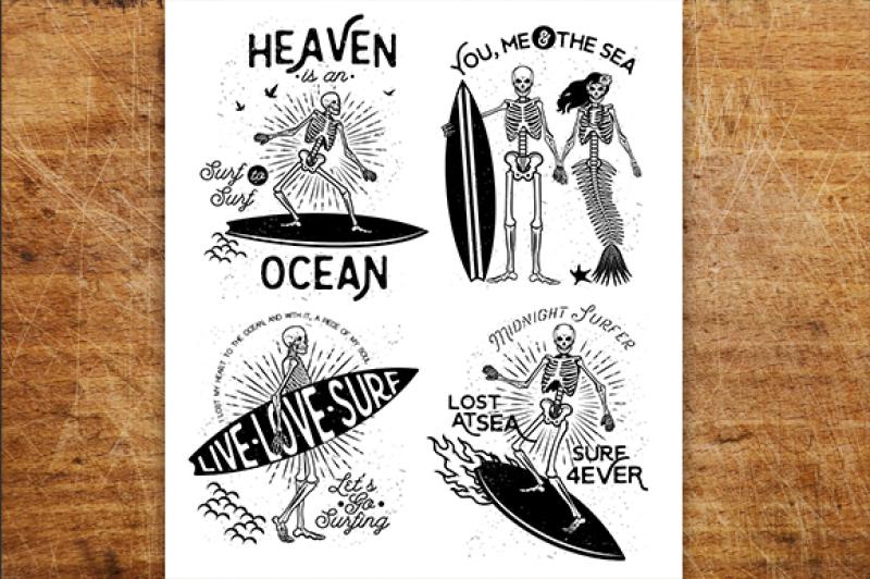 skeleton-surfer-set