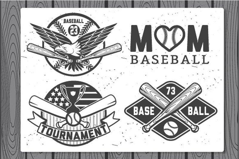 baseball-labels-and-badges-set-1