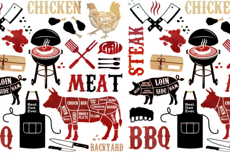 barbecue-pattern-with-meaty-icons