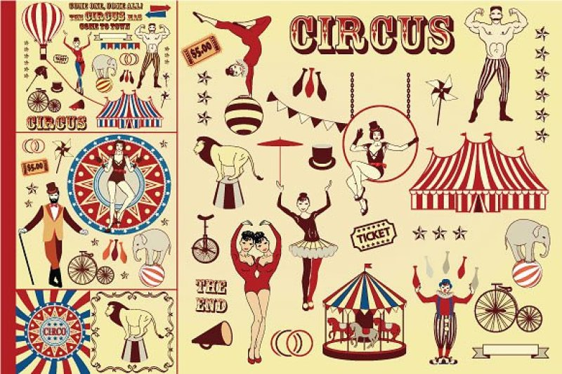 pattern-of-the-circus-stars