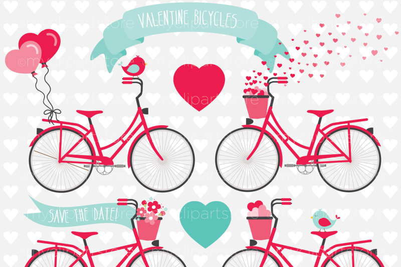valentine-bicycles-vector-clipart