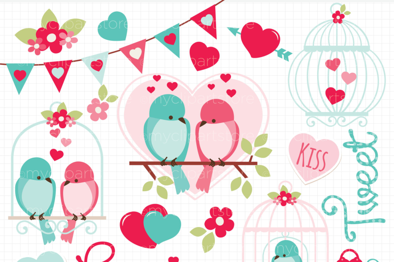 love-is-tweet-love-birds-vector-clipart