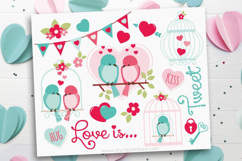 love-is-tweet-love-birds-vector-clipart
