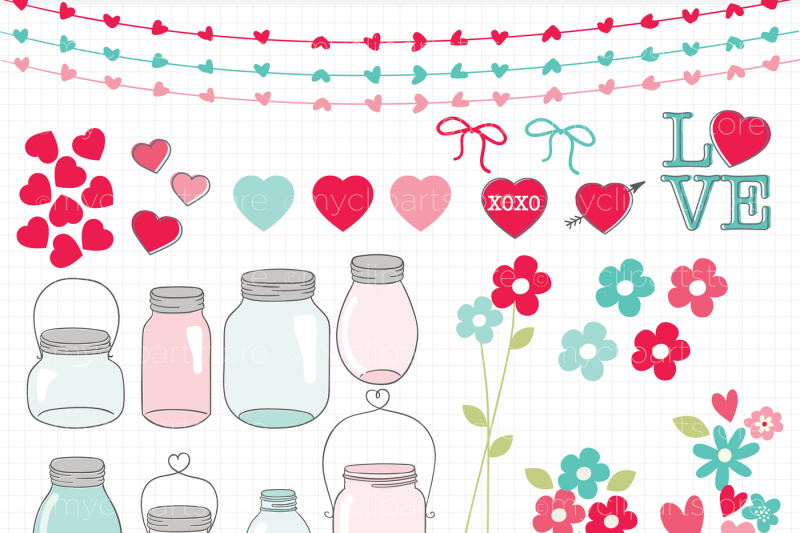 valentine-mason-jars-vector-clipart