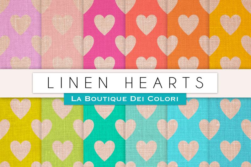 linen-hearts-digital-papers