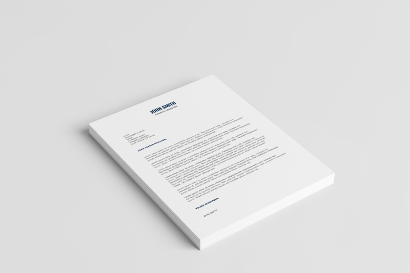 Minimalist Resume Template Cover Letter