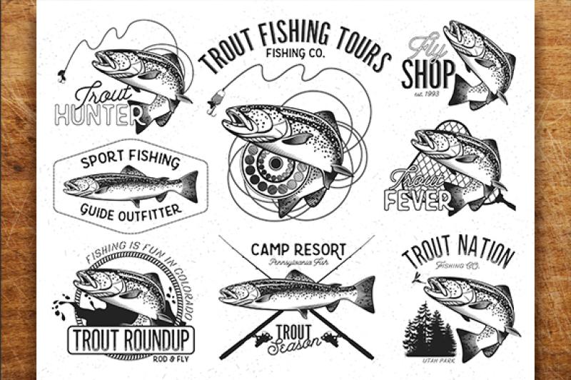 vintage-trout-fishing-emblems