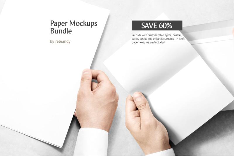 Free Fold Up Retail Box Packaging Mockup (PSD Mockups)