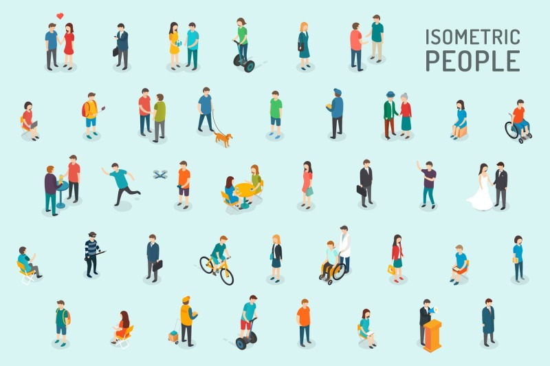 isometric-people-set