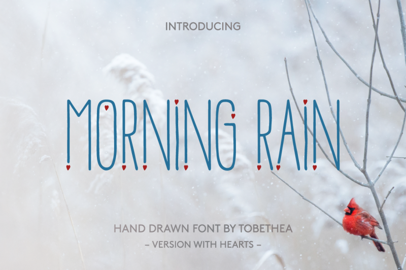 morning-rain-font-with-hearts