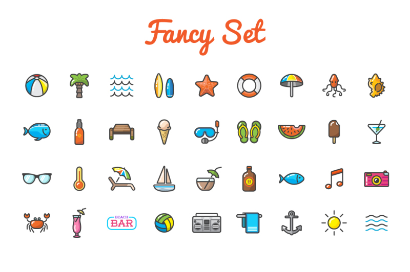 awesome-beach-bar-icons-and-logo-set